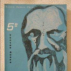 Libros de segunda mano: LA MORAL CATOLICA. 5º. RUANO RAMOS, PBRO. TEXTOS ANAYA, 1960. RUSTICA, 206 PAGINAS. 300 GRAMOS.. Lote 112563899