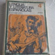 Libros de segunda mano: LENGUA Y LITERATURAS ESPAÑOLAS 4 CURSO E.G.B. ANAYA --REFGIMHAULEMGRRAGO. Lote 112801907