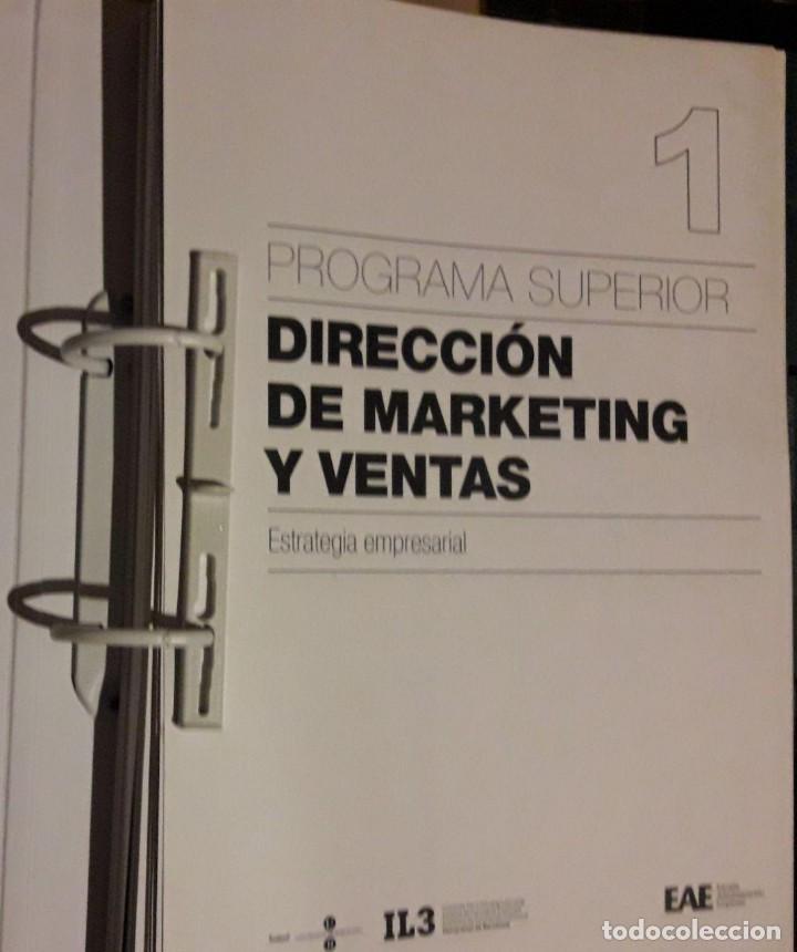 Libros de segunda mano: DIRECCIÓN DE MARKETING Y DE VENTAS / PROGRAMA SUPERIOR / 5 CARPETAS / ESCUELA ADMINISTRACIÓN DE EMPR - Foto 2 - 112916079