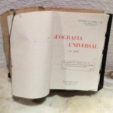Libros de segunda mano: GEOGRAFÍA UNIVERSAL 2º AÑO (SEGUNDO CURSO) / ANTONIO DE ZUBÍA -ED. S. M. 1961. Lote 113305107