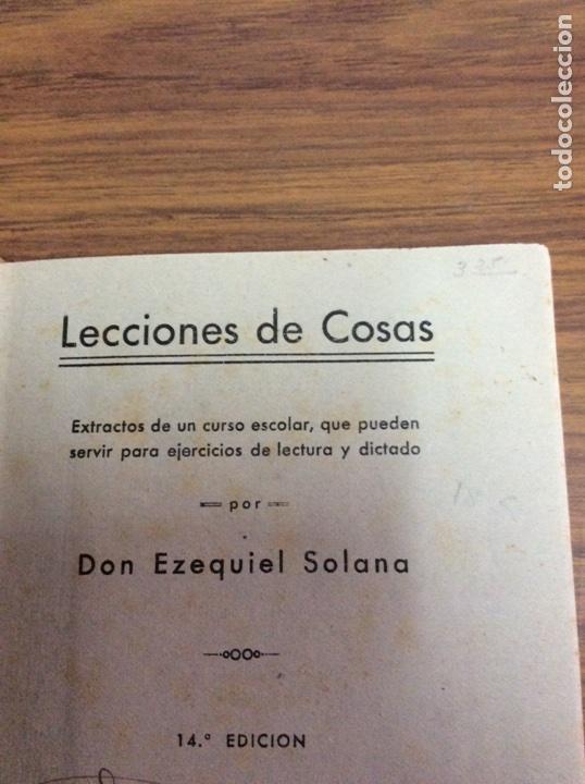 Libros de segunda mano: LECCIONES DE COSAS-EZEQUIEL SOLANA-EDITORIAL ESCUELA ESPAÑOLA.AÑO 1941. - Foto 2 - 113809287