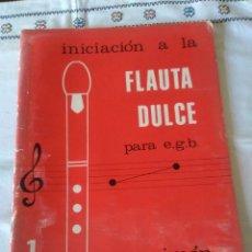 Libros de segunda mano: 86-INICIACION A LA FLAUTA DULCE PARA E.G.B., P. SIMON, NARCEA EDICIONES, 1987. Lote 114122971