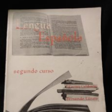 Libros de segunda mano: LENGUA ESPAÑOLA. SEGUNDO CURSO. F. CORREA, FERNANDO LÁZARO. ANAYA 1963. Lote 115213303