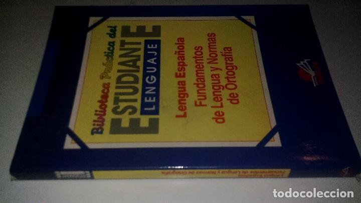 BIBLIOTECA PRACTICA DEL ESTUDIANTE-LENGUA ESPAÑOLA-FUNDAMENTOS DE LA LENGUA Y NORMAS DE ORTOGRAFIA (Libros de Segunda Mano - Libros de Texto )