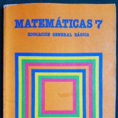 Libros de segunda mano: MATEMÁTICAS 7 - EGB - EDITORIAL SANTILLANA. Lote 115789567