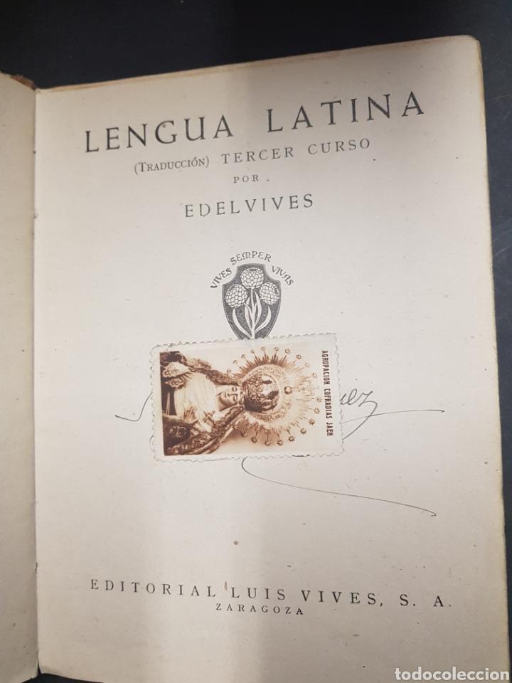 Libros de segunda mano: Lengua latina - tercer curso - editorial luis vives - tdk143 - Foto 2 - 115885483