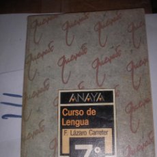 Libros de segunda mano: ANTIGUO LIBRO DE TEXTO - LENGUA 7º EGB. Lote 116133415