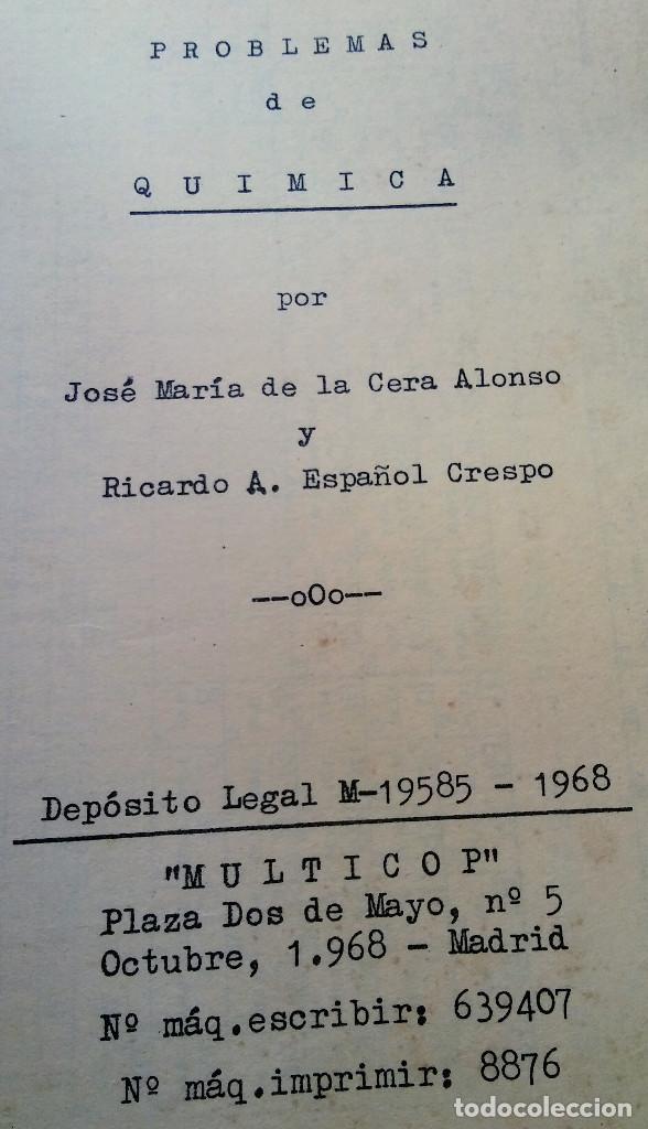 Libros de segunda mano: PROBLEMAS E QUIMICA - Foto 2 - 116138499