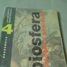 Libros de segunda mano: BIOSFERA. BIOLOGIA Y GEOLOGIA. SECUNDARIA. Lote 116183195