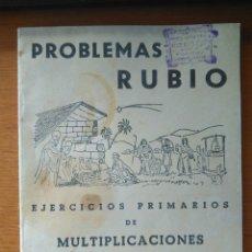Libros de segunda mano: PROBLEMAS RUBIO EJERCICIOS PRIMARIOS DE MULTIPLICACIONES CUADERNO 3 SIN USO AÑO 1959. Lote 116183820