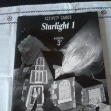 Libros de segunda mano: 110-STARLIGHT 1, ACTIVITY CARDS, SANTILLANA 1993, 3º PRIMARIA. Lote 116215531