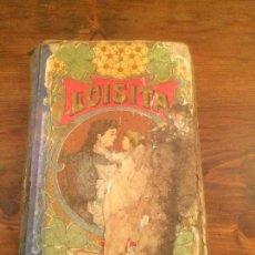 Libros de segunda mano: ANTIGUO LIBRO ESCOLAR LUISITA POR AURORA LISTA AÑO 1890 DE ESTILO MODERNISTA . Lote 116378219