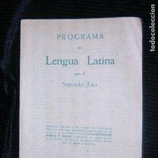 Gebrauchte Bücher - F1 PROGRAMA DE LENGUA LATINA PARA EL SEGUNDO AÑO - 116539983