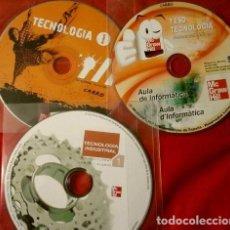 Libros de segunda mano: 3 CDS - EDITORIAL MC GRAW HILL - TECNOLOGIA ESO I BATXILLERAT A CATALUNYA. Lote 116898499