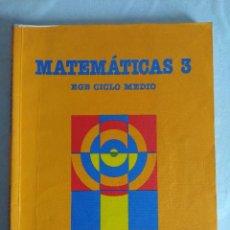 Libros de segunda mano: LIBRO EGB /MATEMATICAS SANTILLANA 3º CURSO.. Lote 117539687