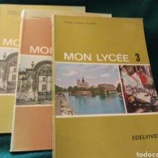 Libros de segunda mano: MON LYCÉE 1, 2, 3. EDELVIVES 1975, 1976, 1977. Lote 118058882