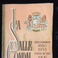 Libros de segunda mano: MEMORIA ESCOLAR 1955 - 1956 COLEGIO LA SALLE - CONDAL (MEMORIA ESCOLAR) BODAS DE ORO Y DIAMANTE. Lote 118437231