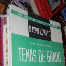 Libros de segunda mano: TEMAS DE EXÁMENES DE GRADO ELEMENTAL DE BACHILLERATO. Lote 118542239