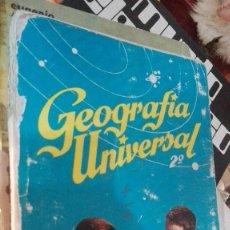 Libros de segunda mano: LIBRO DE TEXTO - GEOGRAFÍA UNIVERSAL - 2° CURSO - ANTONIO M. ZUBIA - SM. Lote 118612311