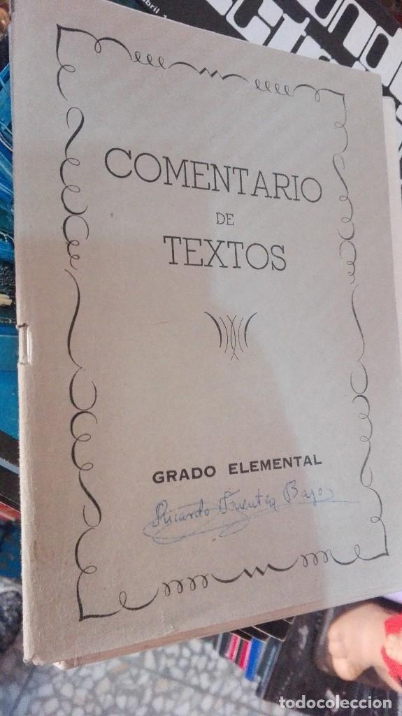 COMENTARIOS DE TEXTO GRADO ELEMENTAL (Libros de Segunda Mano - Libros de Texto )