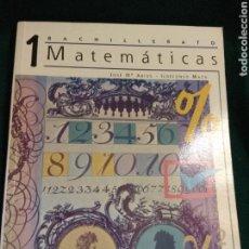 Libros de segunda mano: MATEMÁTICAS 1º BACHILLERATO. CASALS 1997 (NUEVO). Lote 118655400