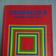 Libros de segunda mano: LENGUAJE 8 SANTILLANA EGB EDUCACIÓN GENERAL BÁSICA E.G.B. LIBRO DE TEXTO. . Lote 118655987