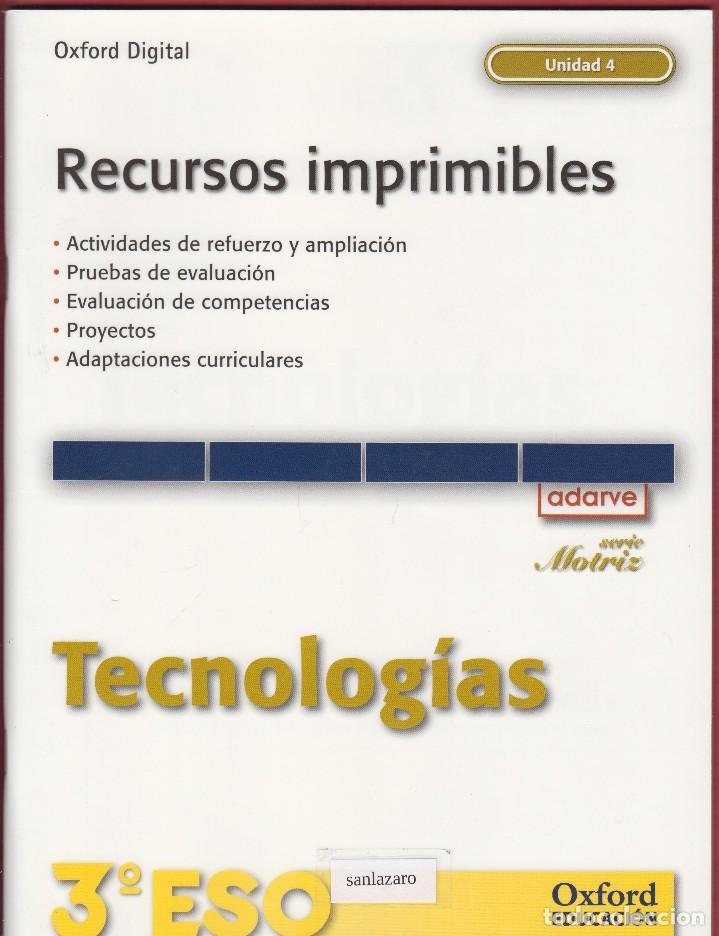 libro de tecnologías para 3º e.s.o. oxford educ - Comprar Libros de ...