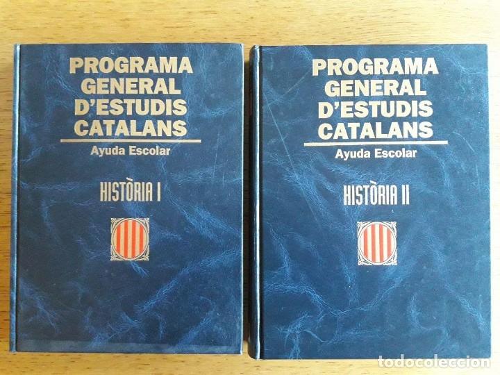 HISTÒRIA I Y II / PROGRAMA GENERAL D'ESTUDIS CATALANS / EDI. AYUDA ESCOLAR 1995 PRIMÀRIA / SECUNDÀR (Libros de Segunda Mano - Libros de Texto )