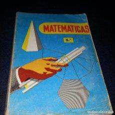 Libros de segunda mano: LIBRO DE TEXTO 1957 MATEMATICA 5º ED. SM. Lote 118956575