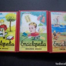 Libros de segunda mano: ENCICLOPEDIA ALVAREZ PRIMER SEGUNDO Y TERCER GRADO EDAF FACSIMIL. Lote 119138711