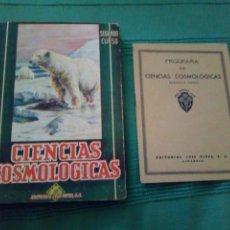 Libros de segunda mano: CIENCIAS COSMOLOGICAS SEGUNDO CURSO LUIS VIVES INCLUYE PROGRAMA. Lote 119344252