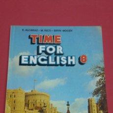 Livros em segunda mão: TIME FOR ENGLISH 8 VICENS VIVES 1988. Lote 136173566