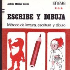 Libros de segunda mano: ESCRIBE Y DIBUJA -ANAYA-Nº 3. Lote 121674943