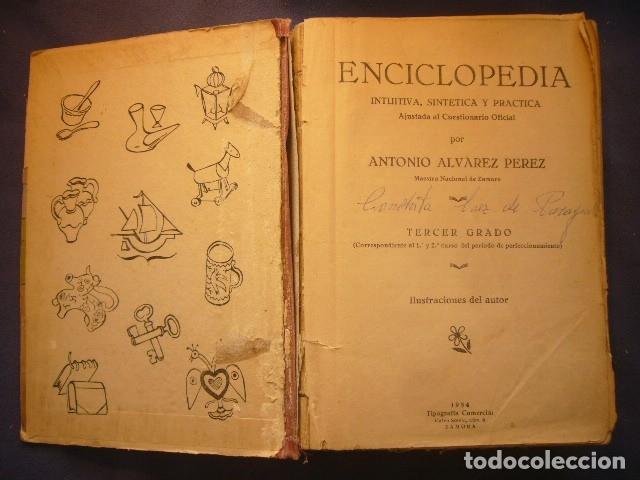 Gebrauchte Bücher: ANTONIO ALVAREZ: - ENCICLOPEDIA INTUITIVA -SINTETICA - PRACTICA. TERCER GRADO - (ZAMORA, 1954) - Foto 3 - 122199727