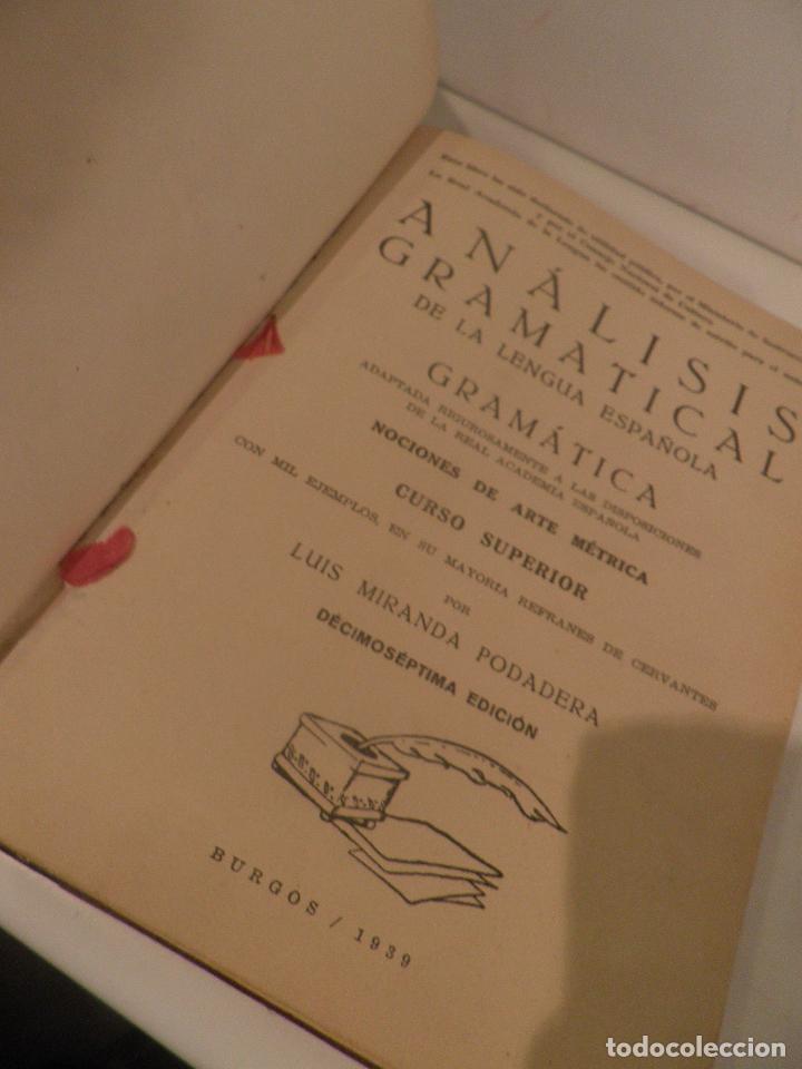 Libros de segunda mano: Practicas de analisis gramatical, Luis Miranda Podadera, Burgos, 1939 - Foto 5 - 209036962