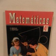 Libros de segunda mano: LIBRO DE TEXTO MATEMATICAS 4º. ED. SM. AÑO 1967. ALGEBRA Y GEOMETRIA.. Lote 122234107