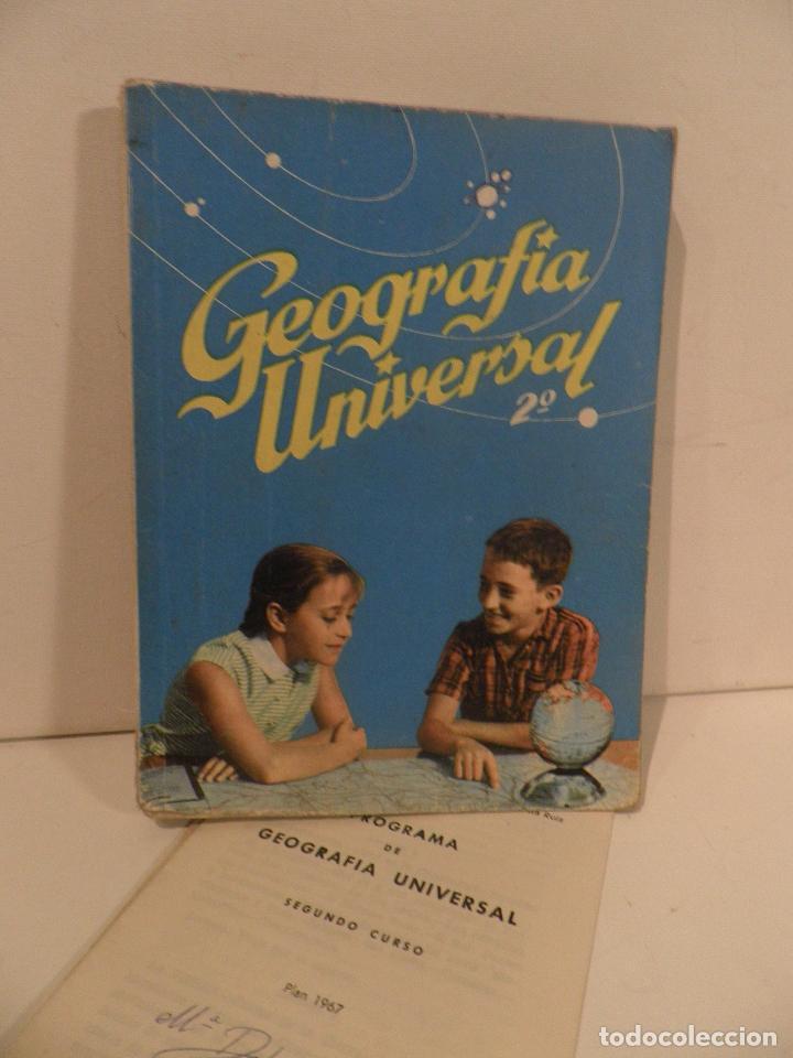 LIBRO DE TEXTO - GEOGRAFÍA UNIVERSAL - 2° CURSO - ANTONIO M. ZUBIA - SM 1964 (Libros de Segunda Mano - Libros de Texto )