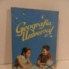 Libros de segunda mano: LIBRO DE TEXTO - GEOGRAFÍA UNIVERSAL - 2° CURSO - ANTONIO M. ZUBIA - SM 1964. Lote 122234263