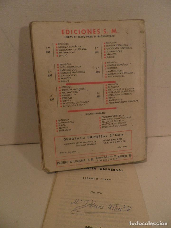 Libros de segunda mano: LIBRO DE TEXTO - GEOGRAFÍA UNIVERSAL - 2° CURSO - ANTONIO M. ZUBIA - SM 1964 - Foto 2 - 122234263