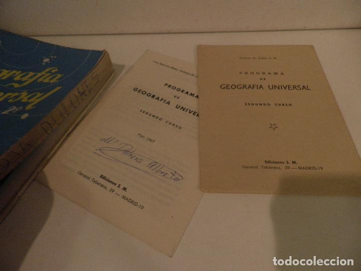 Libros de segunda mano: LIBRO DE TEXTO - GEOGRAFÍA UNIVERSAL - 2° CURSO - ANTONIO M. ZUBIA - SM 1964 - Foto 3 - 122234263