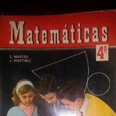 Libros de segunda mano: MATEMÁTICAS 4 1957. Lote 122642683