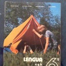 Libros de segunda mano: LENGUA 6º EGB. HIJOS DE SANTIAGO RODRÍGUEZ. 1978. Lote 122769479