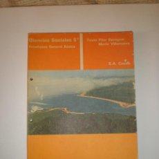 Libros de segunda mano: CIENCIAS SOCIALES 5º EGB CASALS 1973 LIBRO DE TEXTO. Lote 122972407