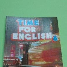 Livros em segunda mão: TIME FOR ENGLISH 6 VICENS VIVES AÑOS 80 NUEVO A ESTRENAR. Lote 123233227