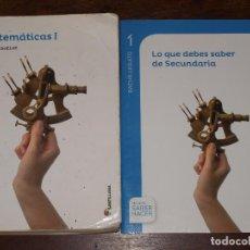 Livres d'occasion: MATEMATICAS I. BACHILLERATO 1.SERIE RESUELVE.PROYECTO SABER HACER. SANTILLANA.VER FOTOS Y DESCRIPCIO. Lote 125078031