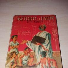 Libros de segunda mano: MÉTODO DE LATÍN - 3º Y 4º CURSOS - EDICIONES SM - 1964. Lote 125135022