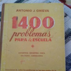 Libros de segunda mano: 1400 PROBLEMAS PARA LA ESCUELA. SOLUCIONES DE TODOS LOS PROBLEMAS DE LOS TRES GRADOS DE LA NUEVA ENC. Lote 125895703