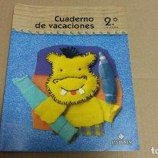 Libros de segunda mano: CUADERNO DE VACACIONES 2º PRIMARIA EDELVIVES 2003. Lote 125905979