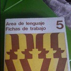 Livres d'occasion: FICHAS DE TRABAJO - AREA DE LENGUAJE 5 - SANTILLANA 1971 - SIN USAR. Lote 125926859