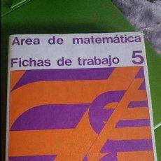 Livres d'occasion: FICHAS DE TRABAJO - AREA DE MATEMATICA 5 - SANTILLANA 1971 - SIN USAR. Lote 125926899